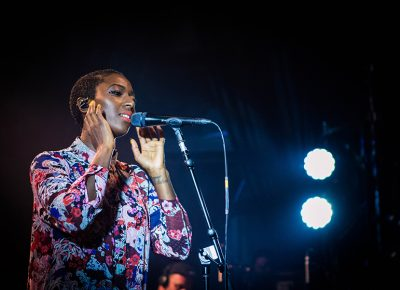 Szjerdene sings in the light. Photo: ColtonMarsalaPhotography.com