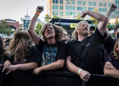 Front-row fans love their Baroness. Photo: ColtonMarsalaPhotography.com