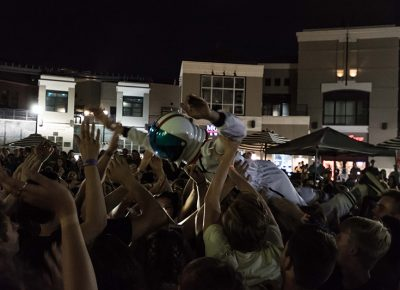 A crowd-surfing space man. Photo: ColtonMarsalaPhotography.com