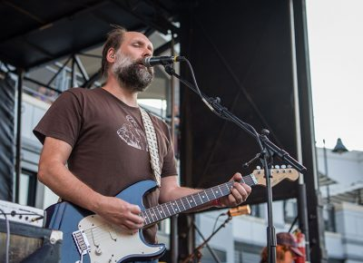Doug Martsch of Built To Spill open their set up in the SLUG Mag stage. Photo: ColtonMarsalaPhotography.com