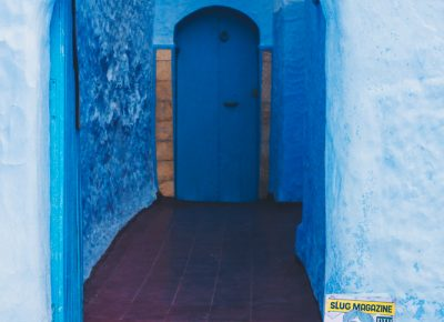 SLUG Mag delivered right to your doorstop even if you live in the mountainous town of Chefchaouen, Morocco. Photo: Talyn Sherer