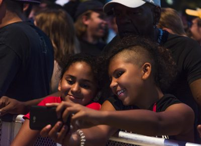 Fans enjoy a selfie in between sets. Photo: ColtonMarsalaPhotography.com