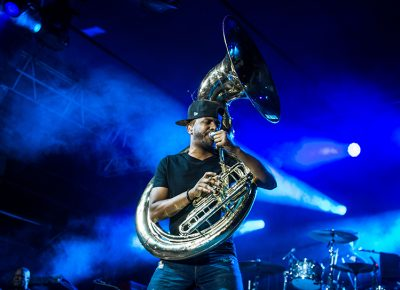 Tuba Gooding Jr. and stage blues. Photo: ColtonMarsalaPhotography.com
