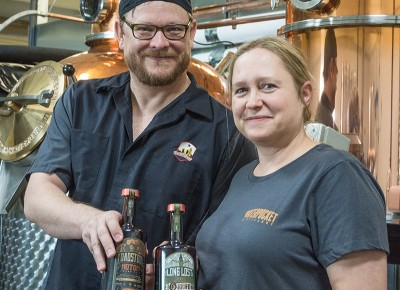 (L–R) Since opening Waterpocket, Alan and Julia Scott have released compelling and creative spirits and liqueurs. Photo: ColtonMarsalaPhotography.com