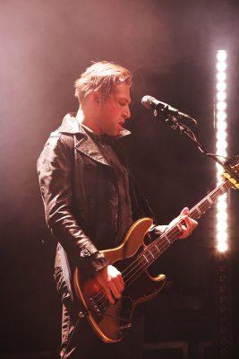 Michael Shuman, guitarist standing far right of stage. Photo: Lmsorenson.net