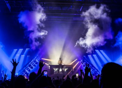 Fog cannons, stage lights, and the deepest bass around. Photo: ColtonMarsalaPhotography.com