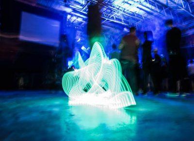 Light-up shoes illuminate the dance floor. Photo: ColtonMarsalaPhotography.com