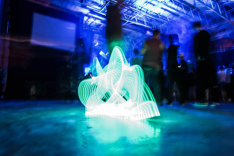 Light-up shoes illuminate the dance floor. Photo: ColtonMarsalaPhotography.com