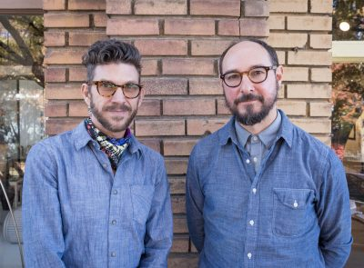 (L–R) Swen of the Wirble artists Banyan Fierer and Christo Allegra. | Photo: coltonmarsalaphotography.com