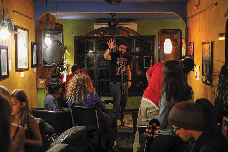 Spoken-word artist RJ Walker leads Wasatch Wordsmiths, who bespeak the power of slam and performance poetry to the community. | Photo: John Barkiple.