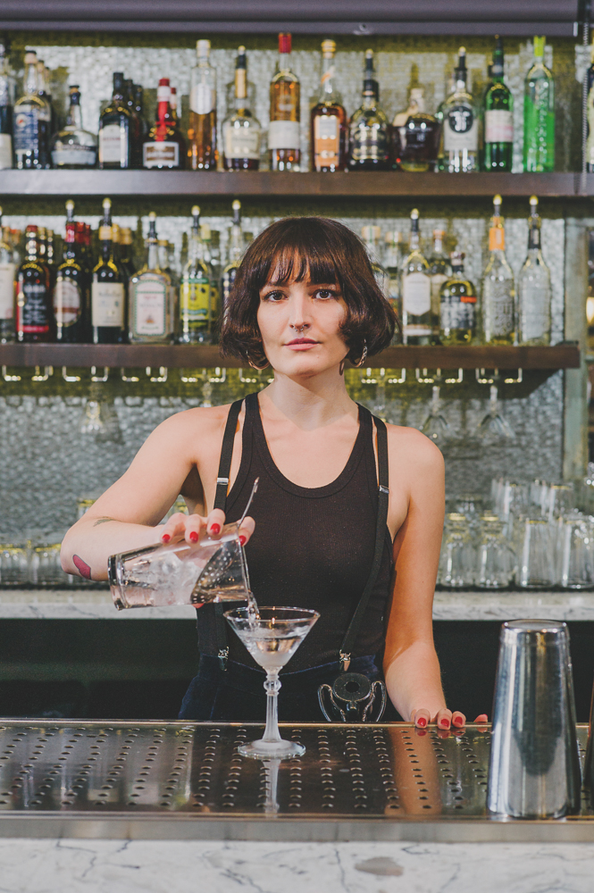 """The bar's almost a stage, and I think that I've always loved that aspect of it,"" says Dransfield. ""For some reason, that's the most comfortable stage for me to be on."" Photo: @clancycoop"