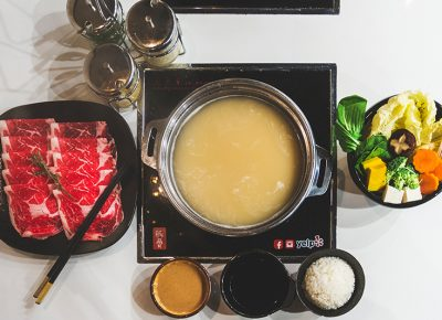 With broth as a base, diners can shape their shabu-shabu experience with a panoply of ingredients to taste together at Tonkotsu Shabu Shabu Bar. | Photos: Talyn Sherer