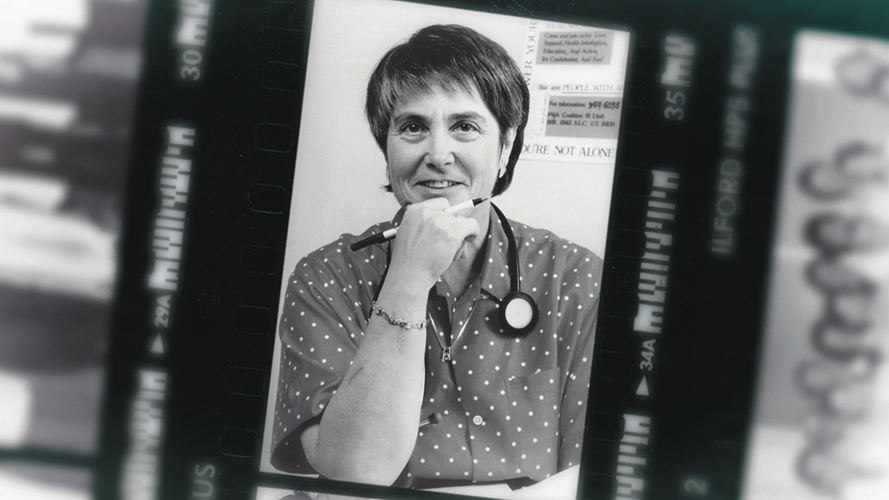 Dr. Kristen Ries in the 1980s. Photocredit: unknown