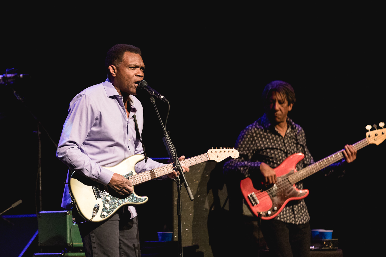 Robert Cray and his band playing onstage in Park City. Photo: @Lmsorenson.net