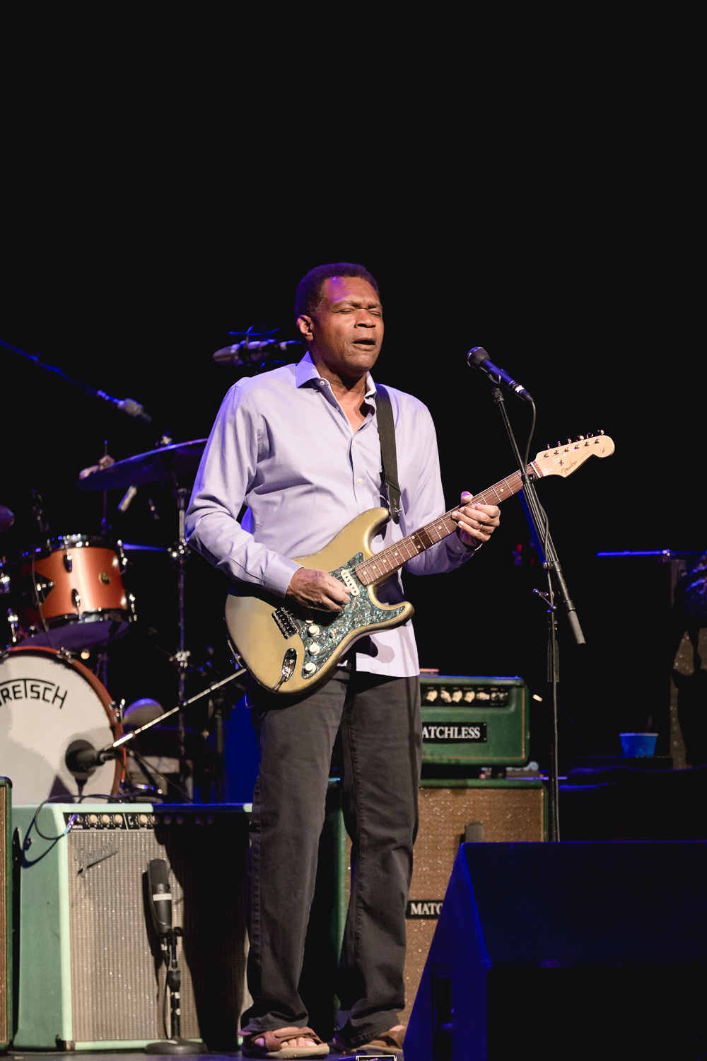 Robert Cray plays a guitar solo during his set at he Eccles Theater. Photo: @Lmsorenson.net