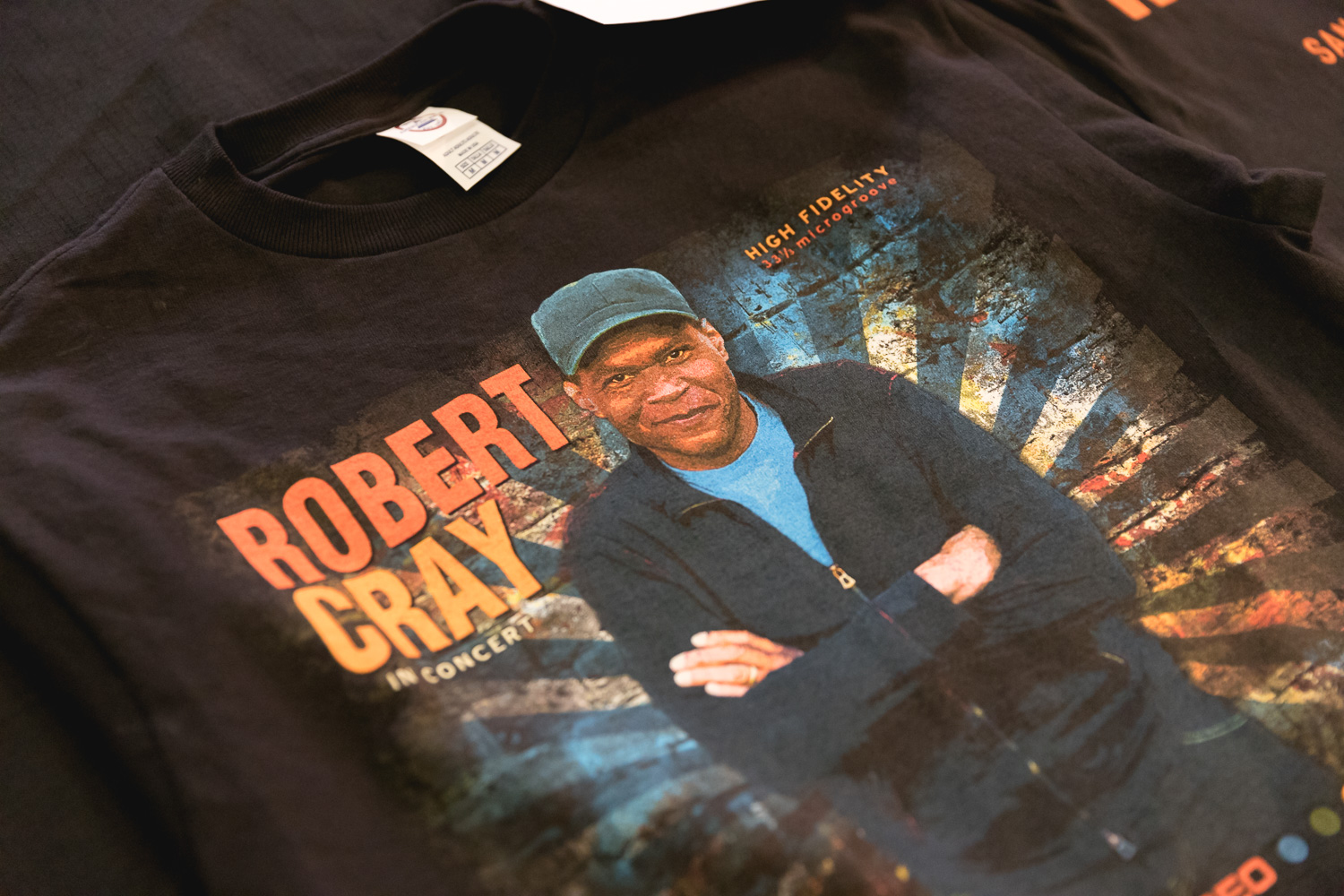 Robert Cray T-shirts for sale. Photo: @Lmsorenson.net