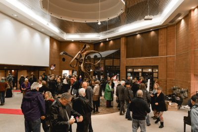 Slight hustle and bustle from the lobby in the Eccles Performing Arts Center. Photo: @Lmsorenson.net