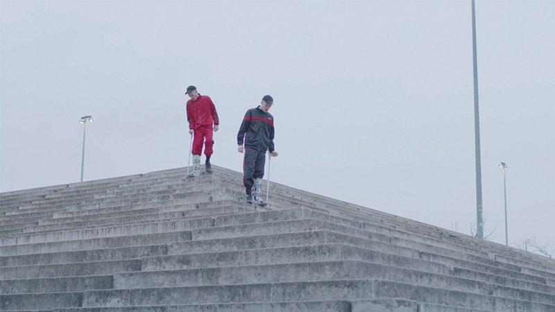 (L–R) Matthias (Nicolas Maxim Endlicher) and Matthew (Antoine Lahaie) vie for masculine dominance in Slamdance film M/M. Image: Ann Tipper