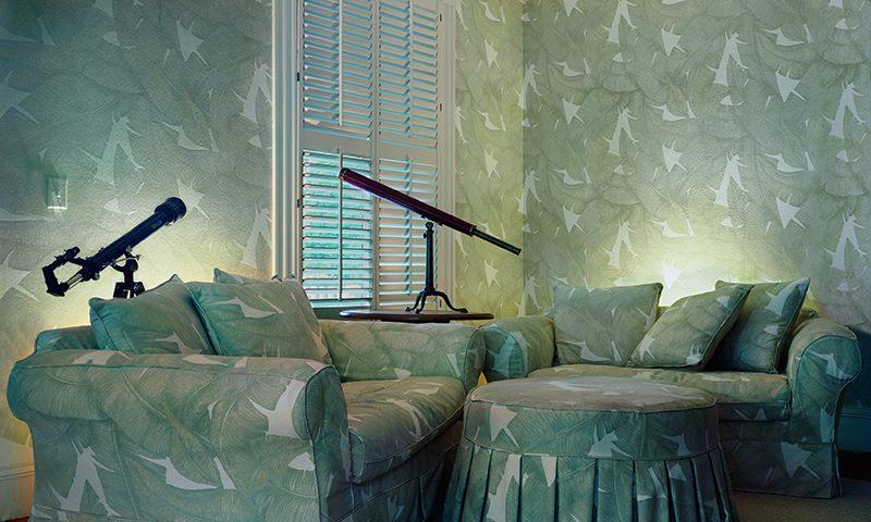 Sarah Malakoff, Untitled Interior (telescopes)