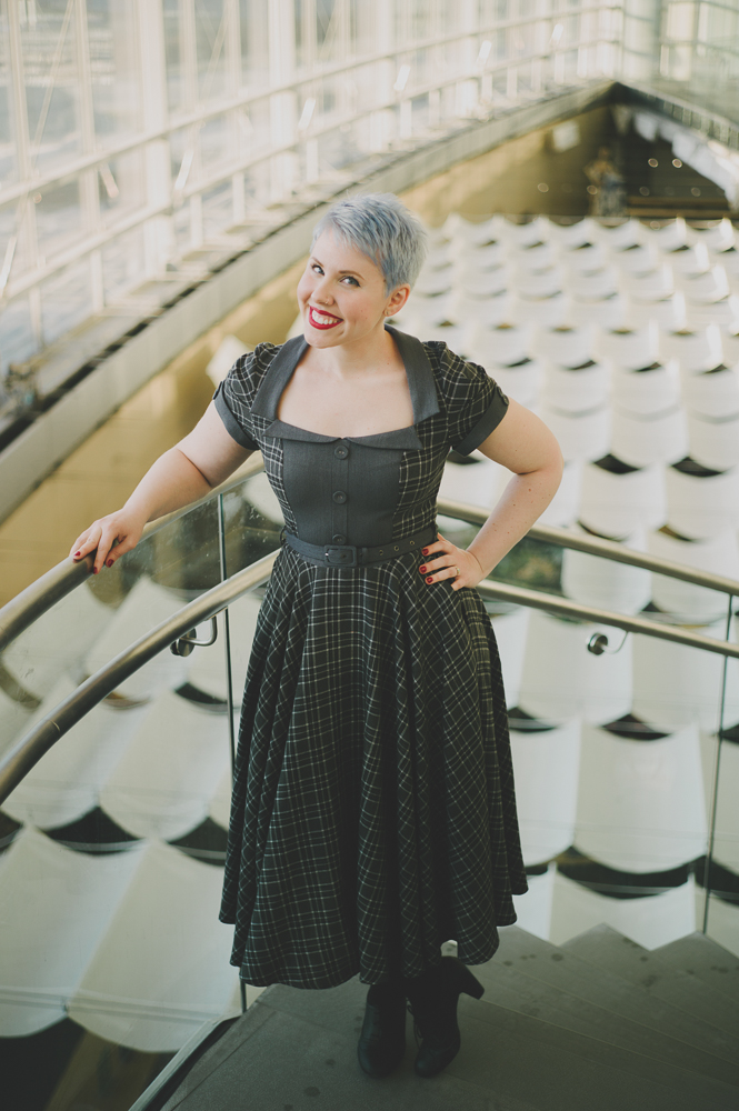 """Whenever I would get dressed up, I would always dress in retro fashions. It just always made me so happy, and it was like, 'Well, why do I only have to do this when I get dressed up for a wedding or something?' I can do it all the time because it makes me so happy,"" says Gonsalves-Vorwald. Photo: @clancycoop"