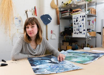 Wren Ross in her studio. Photo: LmSorenson.net