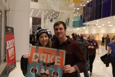 Brianne and Cody scored a sweet tour poster of CAKE at the Eccles Theater. Favorite CAKE hits include Daira and Race a Car. Photo: Lmsorenson.net
