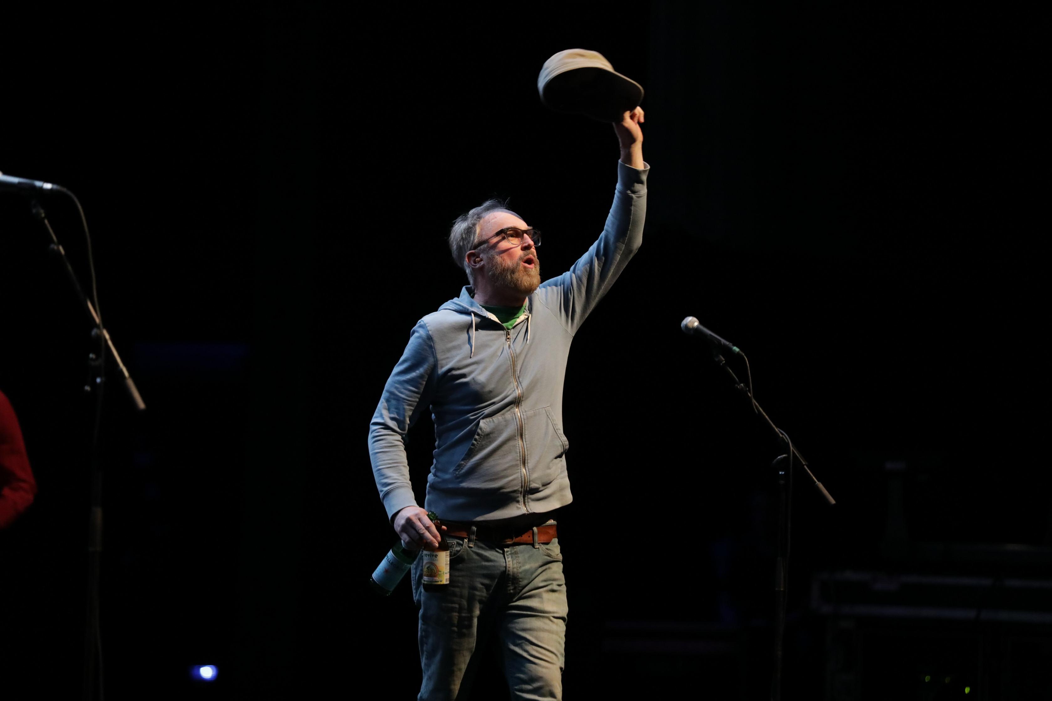CAKE frontman John McCrea enters onstage. Photo: Lmsorenson.net