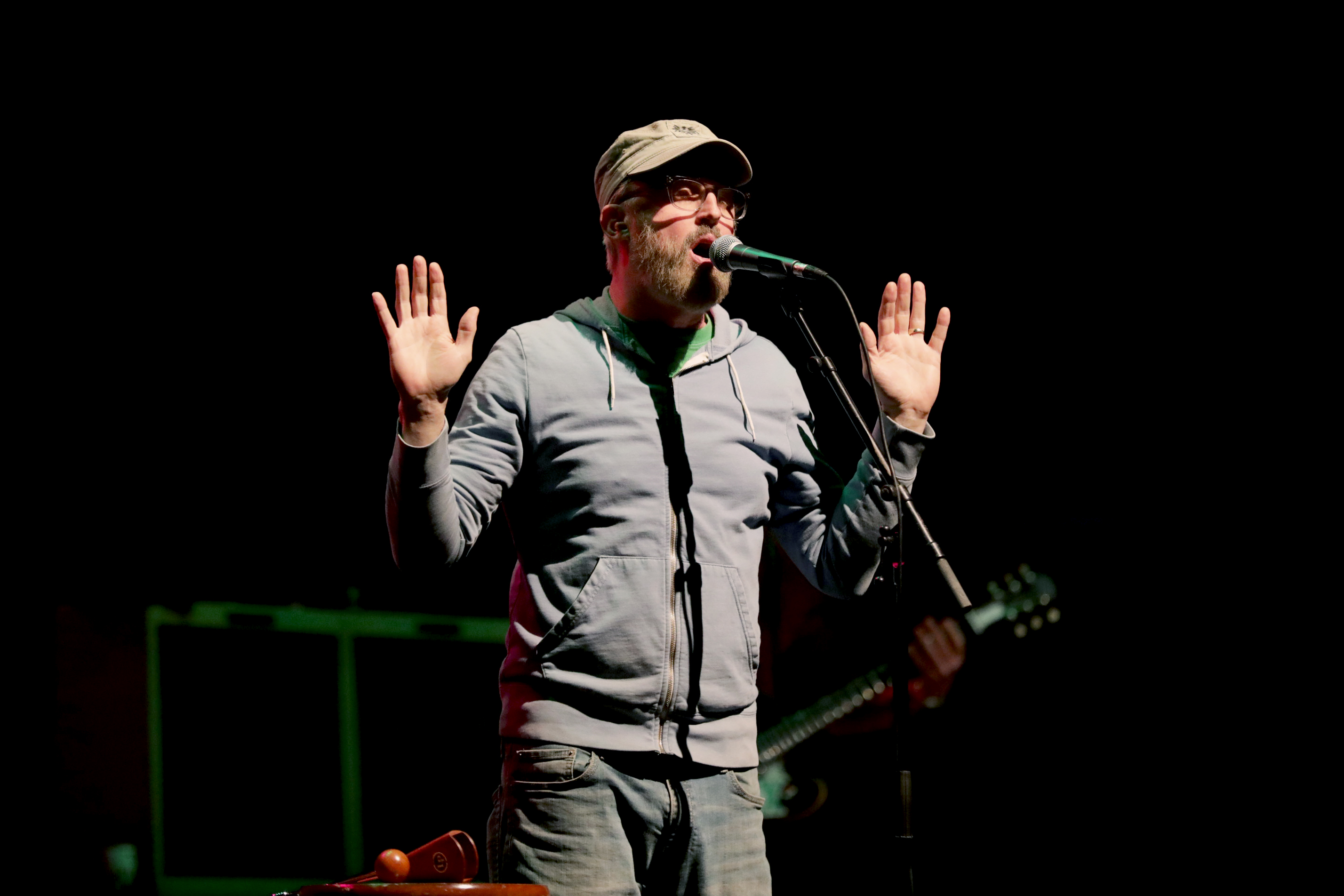 """John McCrea asks the audience, """"How is the air quality this year?"""" Photo: Lmsorenson.net"""