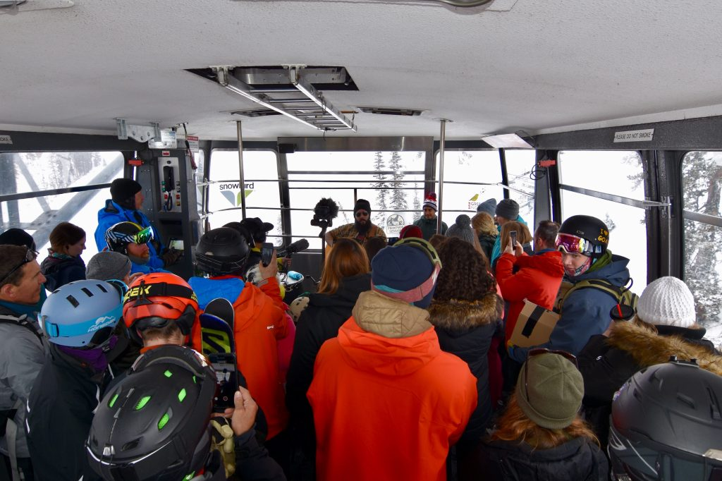 On Behalf of the Planet and Frontside Sessions, Ron Pope Serenades the Snowbird Aerial Tram