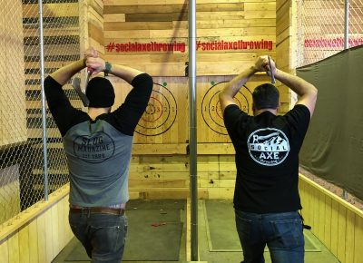 SLUG Magazine meets Social Axe Throwing. Photo: Brayden Floyd