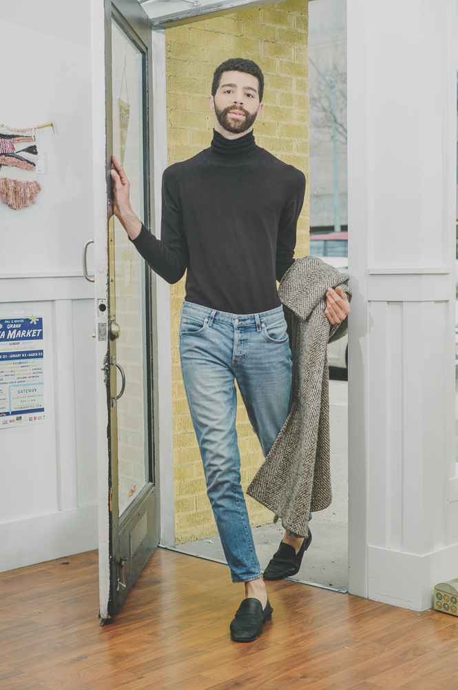 """""""I think I've been lucky that all of my embarrassing trends have become cool now,"""" says Blok. """"I went through a really, really long kind of '90s-ish JNCO Jeans and Streetwear phase that was just a lot of tube tops. There was off-brand Tommy Hilfiger and Fubu, which is cool again, which is great. I thought it was great at the time. It was embarrassing for a long time, but now it's great again."""" Photo: @clancycoop"""