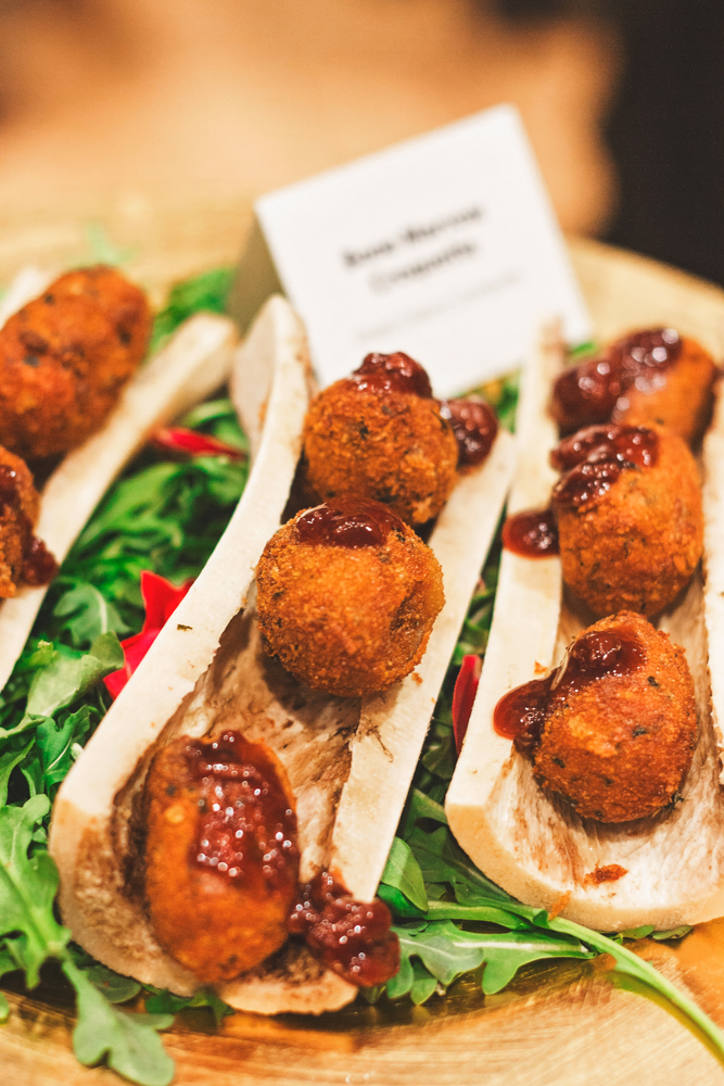 Bone marrow croquettes are served atop their former shells and leave us salivating for more of their buttery goodness. Photo: Talyn Sherer