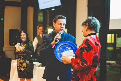 Jorge Fierro of Rico brand foods talks about his time at the men's shelter shortly after coming to Salt Lake and his continued efforts to give back. Photo: Talyn Sherer