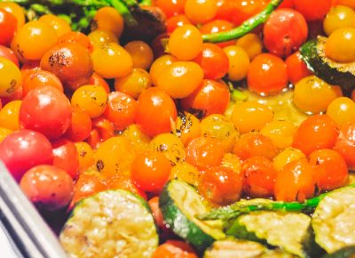 The mixed veggies provided by Cuisine Unlimited helped absorb the spirits that dwelled within. Photo: Talyn Sherer