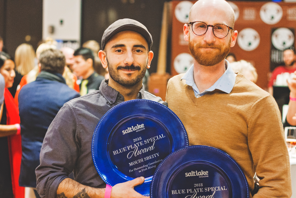 (L–R) Moudi Sbeity and Derek Kitchen of Laziz Kitchen are now the proud owners of the Blue Plate Award, and the community is better for it. Photo: Talyn Sherer