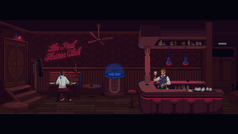 Courtesy of The Red Strings Club and Devolver Digital