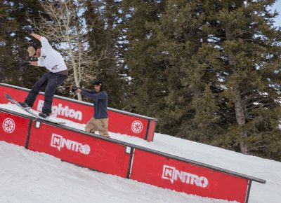 Men's Open Snow, Treyson Allen, backside lip slide. Photo: @cezaryna