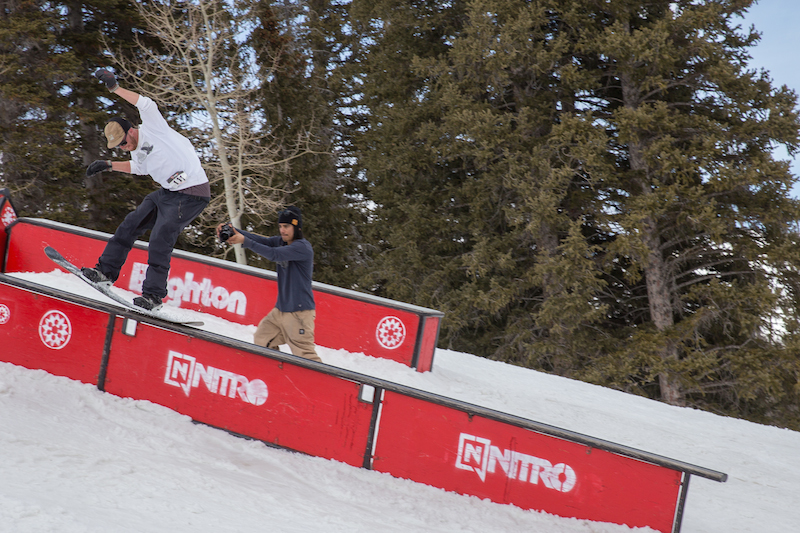 Men's Open Snow, Treyson Allen, backside lip slide. Photo: @cezaryna