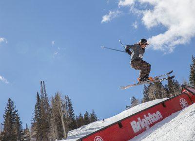 Men's Open Ski 1st place Tucker FitzSimons, huge gap to back slide. Photo: @cezaryna