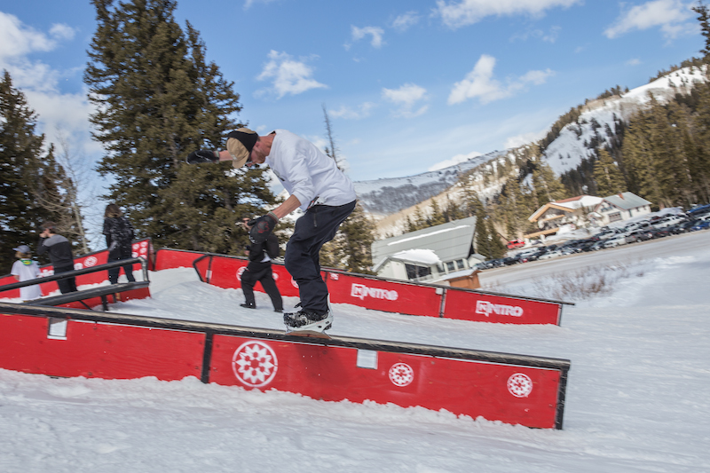 Men's Open Snow, Treyson Allen, frontside boardslide. Photo: @cezaryna