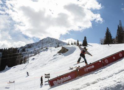 Men's Open Ski, Samuel Horton, one-foot slide. Photo: @cezaryna