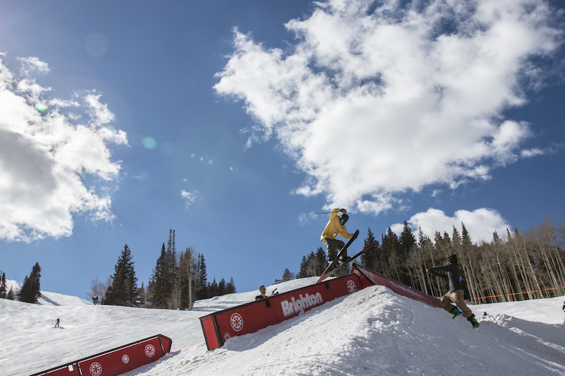 Men's Open Ski, Kevin Bane, gap to tail slide. Photo: @cezaryna