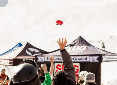 Product toss! Photo: CJ Anderson
