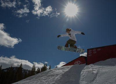 Men's Open Snow 2nd place winner Jeff Hopkins, gap to front board. Photo: @cezaryna