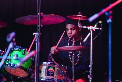 Drummer for Burnell Washburn. Photo: Lmsorenson.net