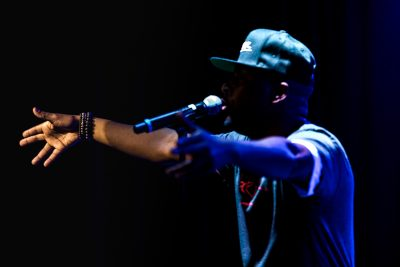 Wyclef Jean takes the stage at Metro Music Hall. Photo: Lmsorenson.net