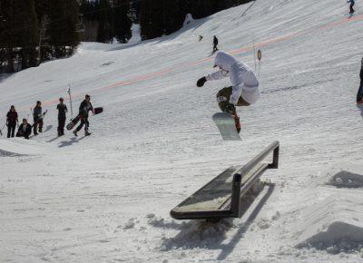 Men's Open Snow, Jeff Hopkins, BS 180 over the bench. Photo: @cezaryna