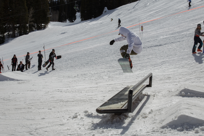 Men's Open Snow, Jeff Hopkins, BS 180 over the bench. Photo: @cezaryna