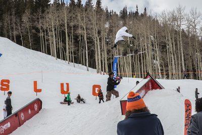 Men's Open Snow 2nd place winner Jeff Hopkins, huge gap to tail press. Photo: @cezaryna