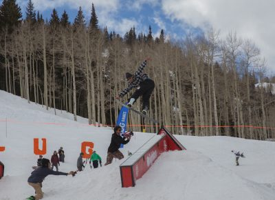 Men's Open Snow, Jaromie Nolan, suitcase over the down box. Photo: @cezaryna